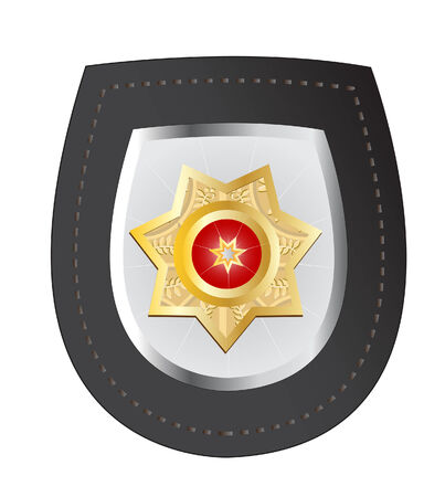 vector illustration of a police badge isolated on white