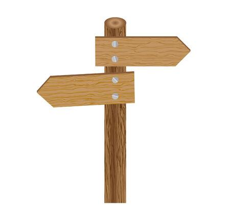 vector illustration of a sign direction post