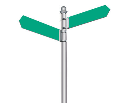 sign post: vector illustration of a street sign post