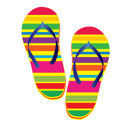 vector illustration of a pair of flipflop Vector