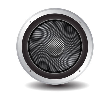 vector illustration of a speaker isolated on white