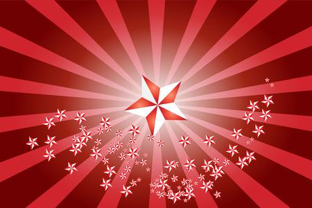 vector illustration of white red starburst background Stock Vector - 4244438