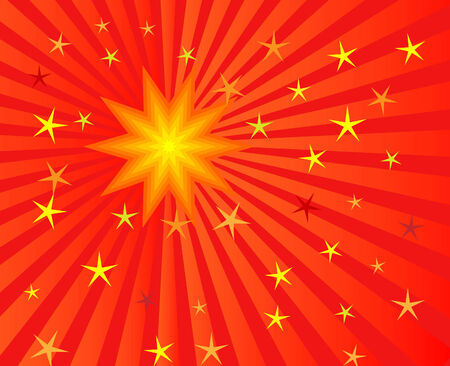 vector illustration of sunburst for abstract background Vector