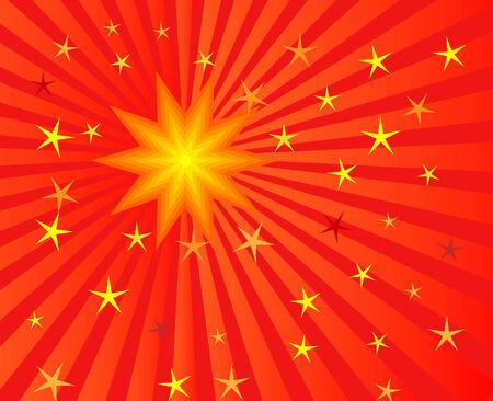 vector illustration of sunburst for abstract background Stock Vector - 4244439