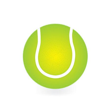 tennisball: vector illustration of a single tennisball isolated on white Illustration