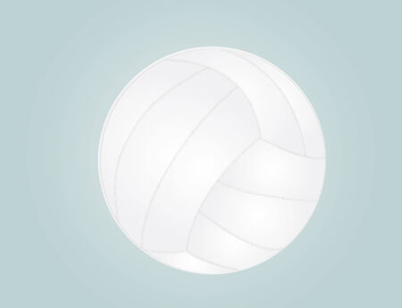 varsity: vector illustration of volleyball isolated on blue background