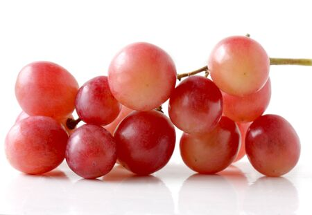 cluster of red global grapes isolated on white background Stock Photo - 4246850