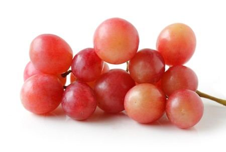 Fresh red global grape fruits isolated on white Stock Photo - 4246792