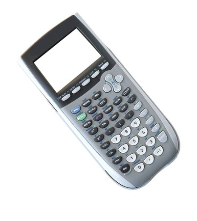 flawless: Silver graphic calculator isolated on white background Stock Photo