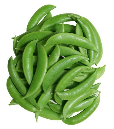 sweet sugar snap: Sugar snap peas isolated on white background Stock Photo