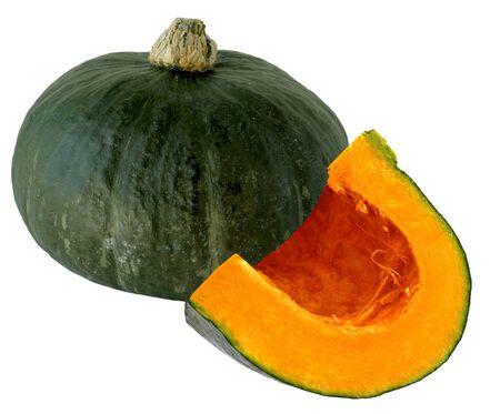 Fresh pumpkin squash isoalted on white background photo
