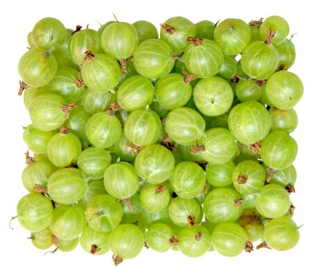 Fresh Green gooseberry isolated on white background