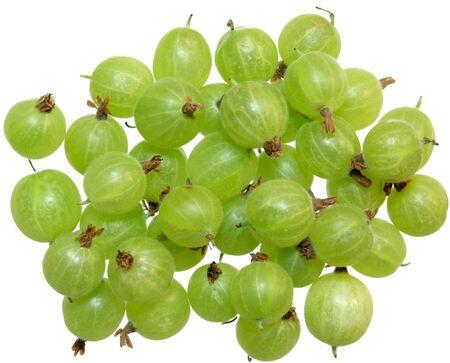 Group of fresh gooseberry isolated on white background