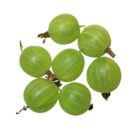 Fresh Gooseberry fruits isolated on white background