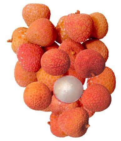 lichi: Fresh lichi fruits isolated on white background