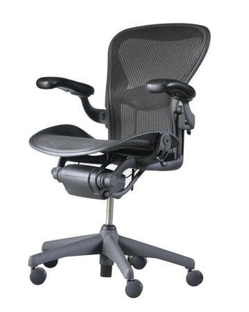 Luxury office chair isolated on white background photo
