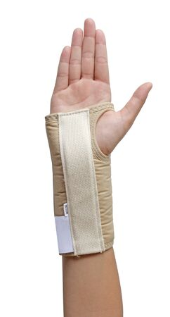 Carpals tunnel syndrome hand with a wrist support photo