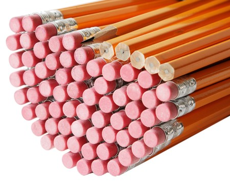 Bunch of pencils isolated on white Stock Photo - 4268176
