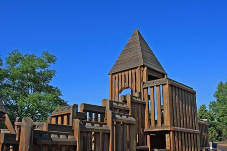 Wooden play ground against blue sky Stock Photo - 4268284