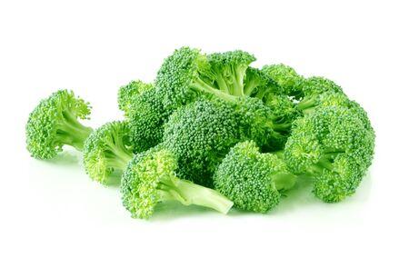 broccolli: Broccoli over white background