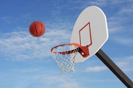 backboard: Basketball and net Stock Photo