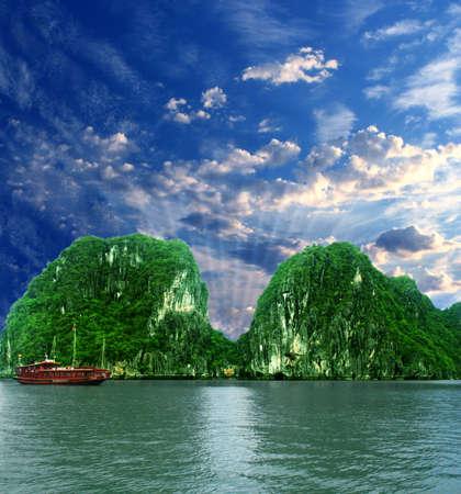 Mountains at Halong Bay Stock Photo - 4283236