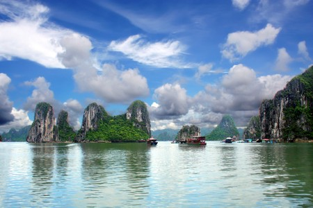 long bay: Halong Bay Stock Photo