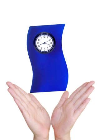 Hand houden een klok