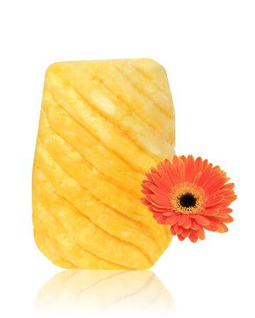 Pineapple and Gerbera Flower photo