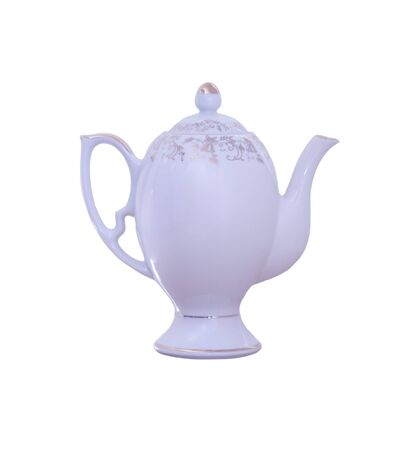A teapot isolated over white 版權商用圖片