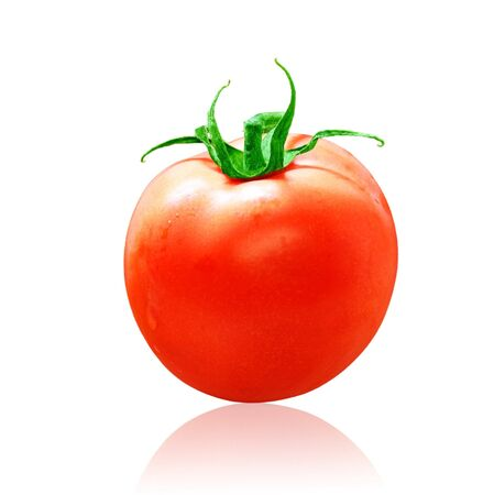 A roma tomato isolated on white background