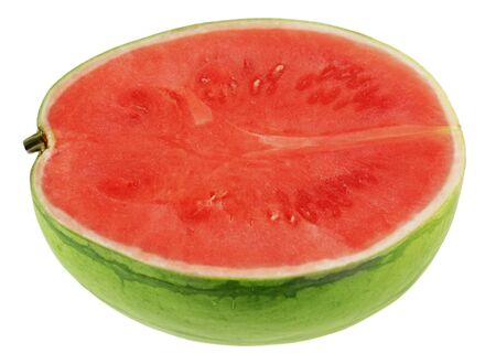 Half of seedless watermelon isolated on white photo