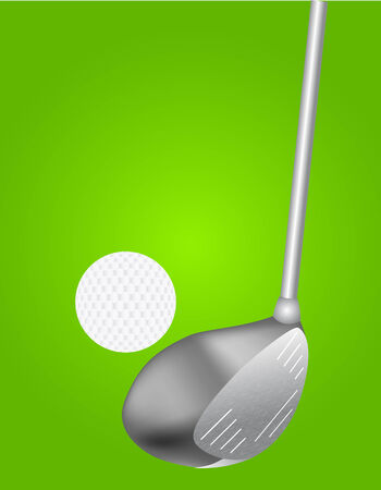 vector illustration of golf pair on green background Vector
