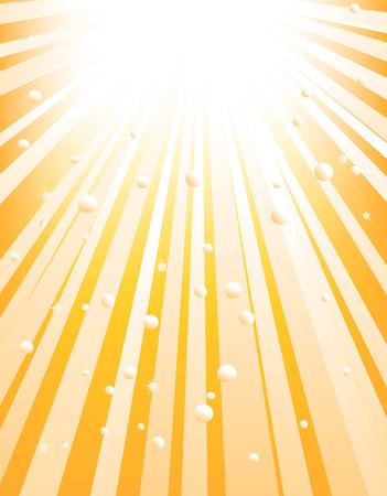 Illustratie van een abstract oranje starburst