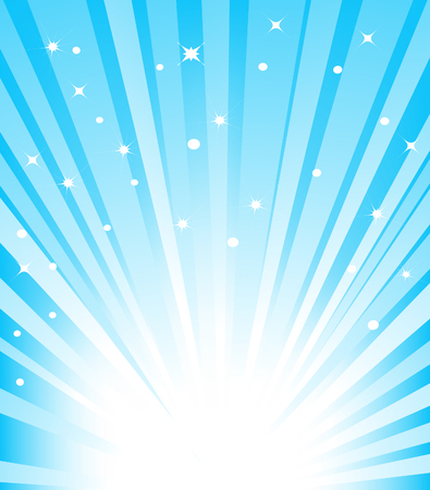 Vector illustration of abstract blue sunburst background Illustration