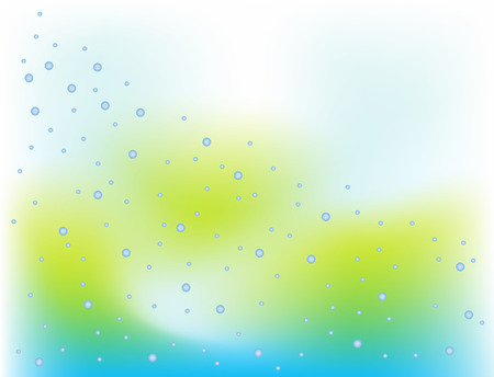 buble: Illustration of green blue buble abstract background