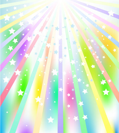 Illustration of colorful star burst abstract background Vector