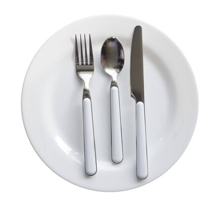 Cutlery diner set with plate, knife, fork, and spoon Stock Photo - 4554399