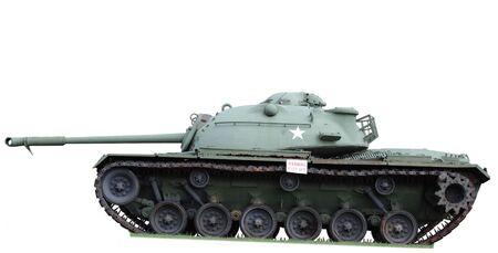 Vintage army tank isolated on white Stock Photo - 4800350