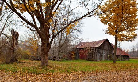 Creepy vieja casa en la temporada de otoño  Foto de archivo - 5800753
