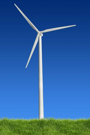 turbin: Single wind power standing in the spring time