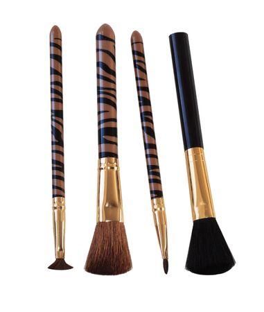 Set of make up brush isolated on white background photo