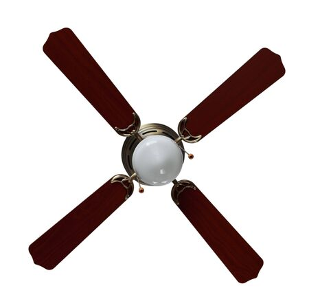 fan ceiling: Four blades brushed nickel finished bronze Ceiling fan  with light