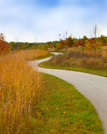 Colorful autumn scenery in the park late afternoon Stock Photo - 6731471