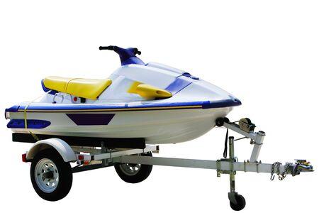 moto acuatica: �nico jet ski aislados sobre fondo blanco  Foto de archivo