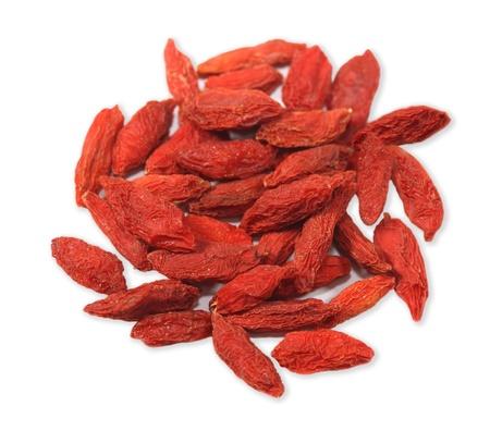 赤い茱萸 lychii goji クコ果実の山