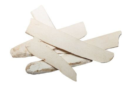 Pile of dried dioscorea opposita slice, herbal medicine photo