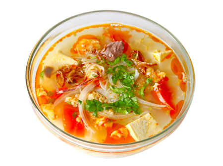 Rice noodle with shrimp and crab paste, Vietnamese cuisine Stock Photo - 8478488