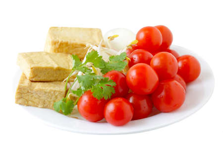 Fresh Colorful vegetarian food on plate Stock Photo - 8736002