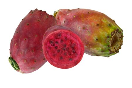 two and a half: Two and a half prickly pear cactus fruits Stock Photo